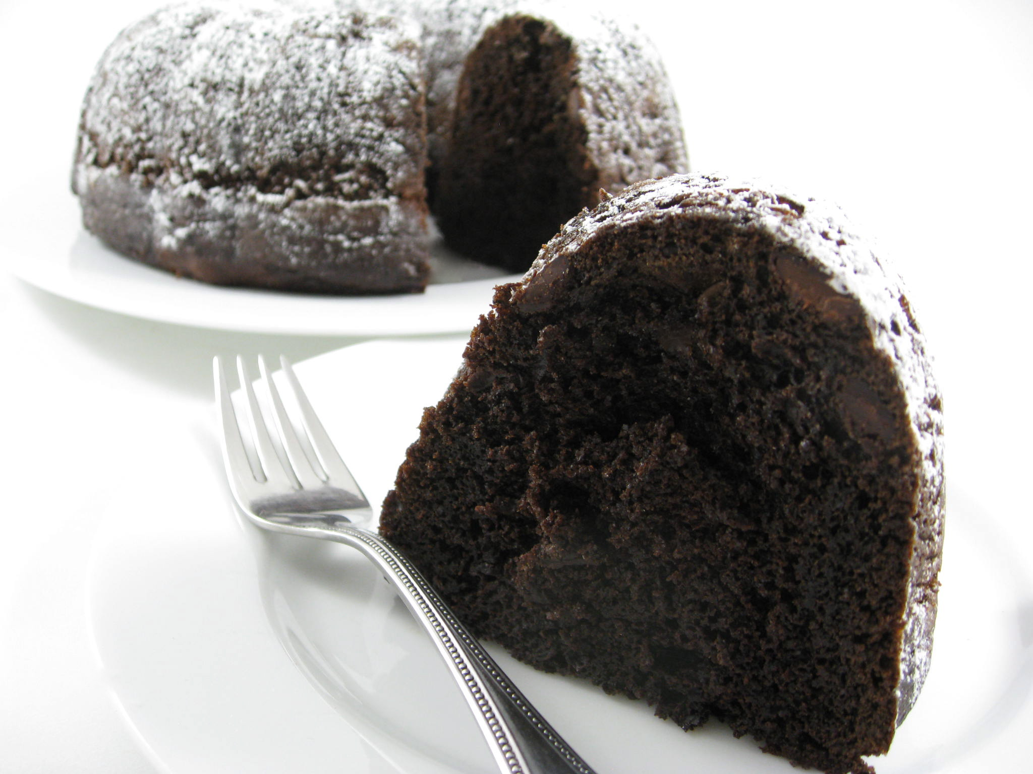 Skinny Double Dark Chocolate Chip Bundt Cake with Weight Watchers ...